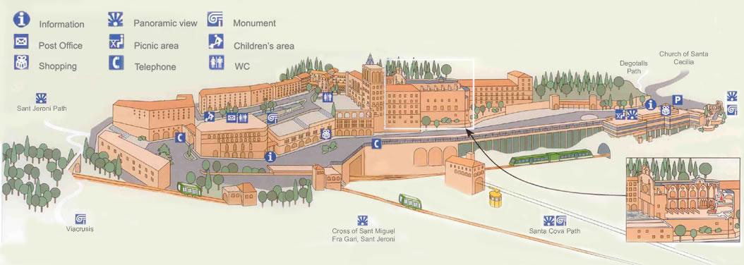 Map Of Montserrat Monastery - Montserrat map