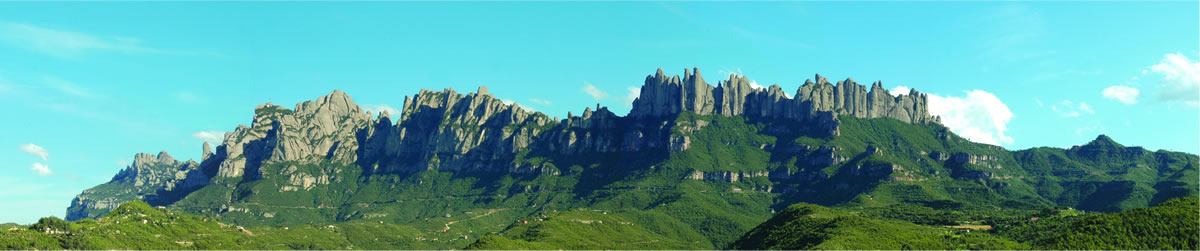 A panoramic of Montserrat Mountain