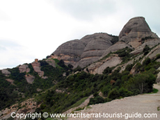 Rock Formations on Montserrat Mountain