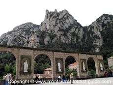A square at Montserrat Monastery