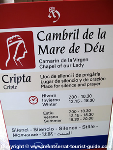 A sign displaying numbers for the audio guide