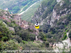 Cable Car leaving Montserrat