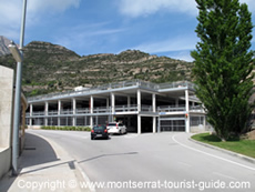 Car Park at Monistrol Vila Rack Railway Station